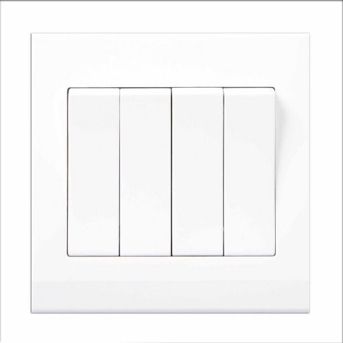 Simplicity White Screwless Rocker Light Switch 4 Gang 2 Way 07060